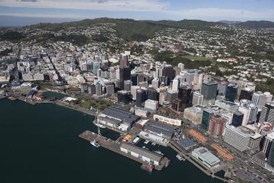 Aerial View of Wellington City Centre and Queens Wharf