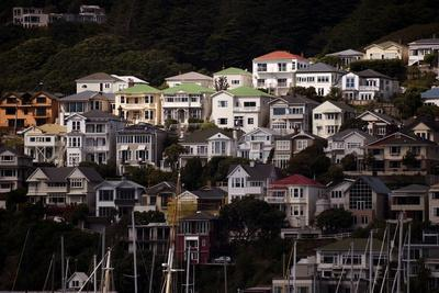 Houses on the Northern Slopes of Mount Victoria Overlooking Oriental Bay