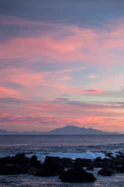 Kaikoura Ranges in South Island at Sunset from Wellington, North Island, New Zealand, Pacific by Nick
