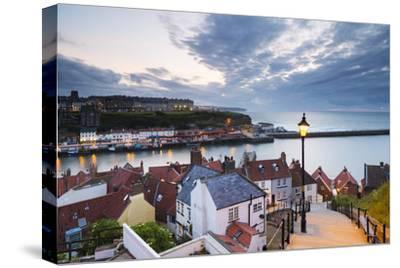 United Kingdom, England, North Yorkshire, Whitby. the Harbour and 199 Steps by Nick Ledger