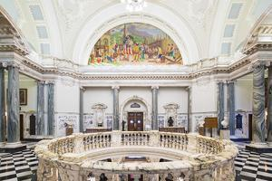 United Kingdom, Northern Ireland, County Antrim, Belfast. The interior of City Hall. by Nick Ledger