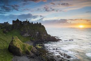 United Kingdom, Northern Ireland, County Antrim, Bushmills. The ruins of the 13th century Dunluce C by Nick Ledger