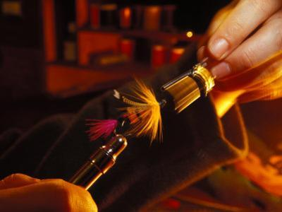 Close View of Fly Tying by Nick Norman