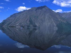 Mountain Is Reflected in a Still Lake, Kathleen Lake, Yukon Territory, Canada by Nick Norman