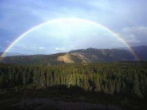 Rainbow over Mountains, Alaska Mountains, Alaska by Nick Norman
