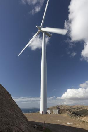 One of the Turbines with a Person for Scale