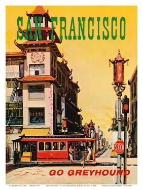 San Francisco, USA, Cathay House Restaurant, China Town, Go Greyhound by Nick Sciurba