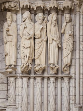 Medieval Carvings of Old Testament Figures, North Porch, Chartres Cathedral, UNESCO World Heritage  by Nick Servian