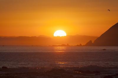 Sunset over Marlborough Sounds