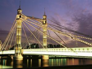 Albert Bridge, London, England, United Kingdom by Nick Wood