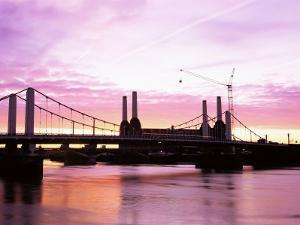 Dawn Over Battersea Power Station and Chelsea Bridge, London, England, United Kingdom by Nick Wood