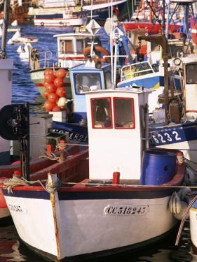 Fishing Boats in Port, Concarneau, Brittany, France by Nick Wood
