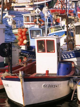 Fishing Boats in Port, Concarneau, Brittany, France