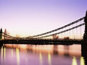 Hammersmith Bridge, London, England, United Kingdom by Nick Wood