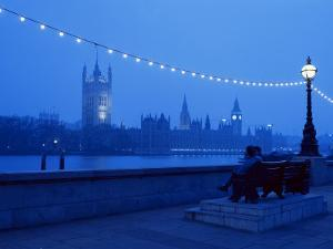 Houses and Parliament from Across the Thames, London, England, United Kingdom by Nick Wood