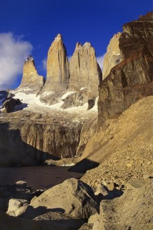 Mountain Lake, Tierra Del Fuego, Torres Del Paine National Park, Chile