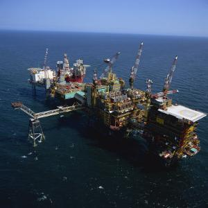 Platform and Drilling Rigs, Morecambe Bay Gas Field, England, United Kingdom, Europe by Nick Wood