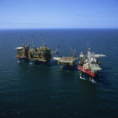 Seafox Drill Rig and Platform in the Sea at Morecambe Bay Gas Field, England, United Kingdom