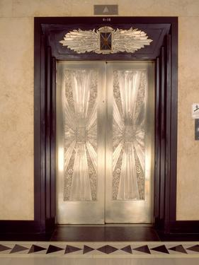 Nickel Metalwork Art Deco Elevator Doors, Two North Riverside Plaza, 400 West Madison Street