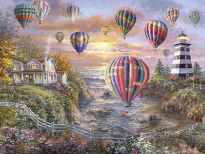 Balloons over Cottage Cove by Nicky Boehme