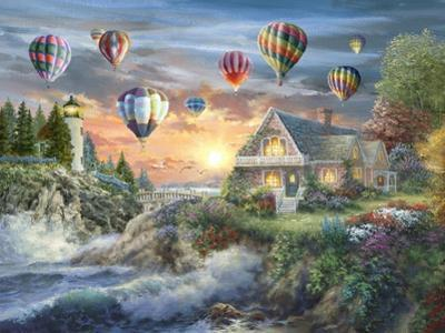 Balloons over Sunset Cove by Nicky Boehme