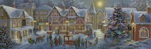 Christmas Village Panoramic by Nicky Boehme