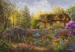Cottage Garden in Full Bloom by Nicky Boehme
