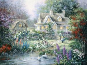 Feeding Geese by Nicky Boehme