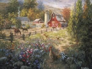 Grazing the Fertile Farmland by Nicky Boehme