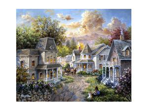 Main Street Along a Country Village by Nicky Boehme
