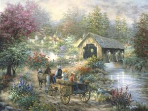 Merriment at Covered Bridge by Nicky Boehme