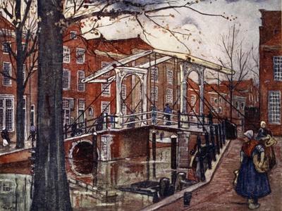 De Oude Rijn, Leiden, 1904