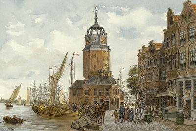 Haringpakkerstoren Tower, Amsterdam, 19th Century