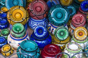 Ash Trays for Sale in the Souk, Medina, Marrakech, Morocco by Nico Tondini