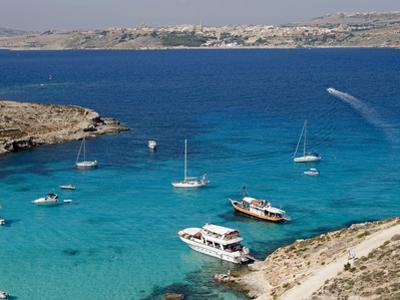 Blue Lagoon, Aerial View, Comino Island, Republic of Malta