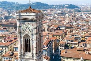 Campanile of Giotto and City View , Florence, Tuscany, Italy by Nico Tondini