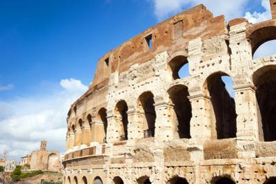 Colosseum or Flavian Amphitheatre, Rome, Latium, Italy, Europe by Nico Tondini
