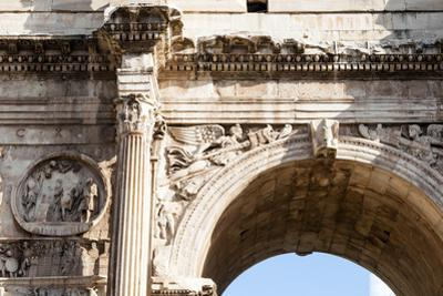 Detail of Arch of Constantine, Arco di Costantino, Rome, Latium, Italy, Europe by Nico Tondini