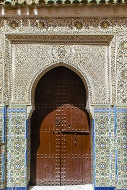 Door in the Souk, Marrakech, Morocco by Nico Tondini