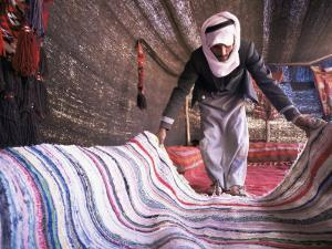 Inside a Bedouin Tent, Sinai, Egypt, North Africa, Africa by Nico Tondini