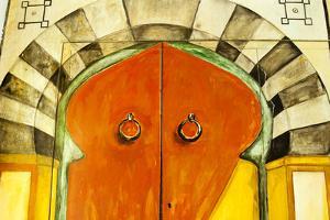 Painted Door, Tunisia, North Africa by Nico Tondini