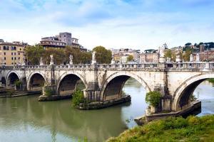 Ponte Sant'Angelo, Tiber River, Rome, Lazio, Italy, Europe by Nico Tondini