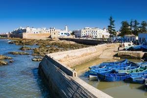 Port with Fishing Boats, Essaouira, Morocco by Nico Tondini