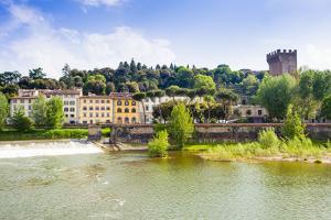 River Arno, Tower of San Niccolo, Firenze, Tuscany, Italy by Nico Tondini