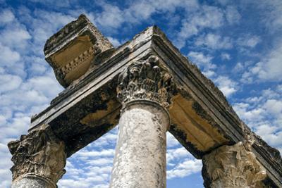 Roman Ruins Temple of Juno Caelestis, Dougga Archaeological Site, Tunisia by Nico Tondini