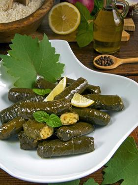 Stuffed Vine Leaves, Dolmades, Arabic Countries, Arabic Cooking, Greek Food, Turkish Food by Nico Tondini