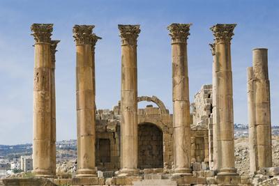 The Temple of Artemis, Jerash, Jordan. Once the Roman city of Gerasa.