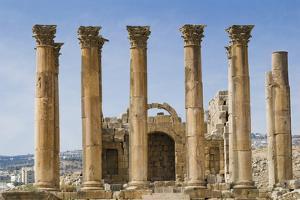 The Temple of Artemis, Jerash, Jordan. Once the Roman city of Gerasa. by Nico Tondini
