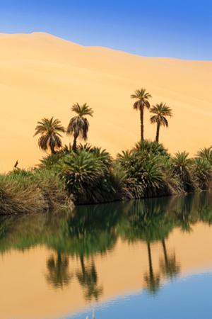 Um El Ma Salt Lake, Mandara, Sahara, Libya