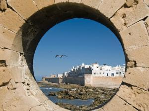 View of Ramparts of Old City, UNESCO World Heritage Site, Essaouira, Morocco, North Africa, Africa by Nico Tondini